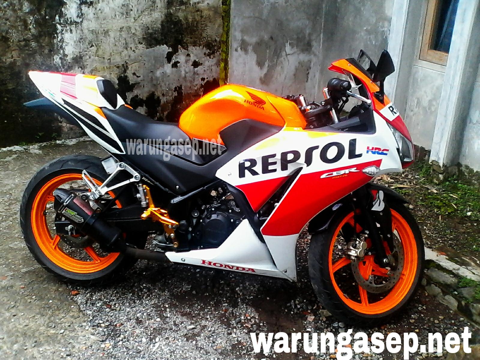 modifikasi cbr repsol 150 cc  paling bagus