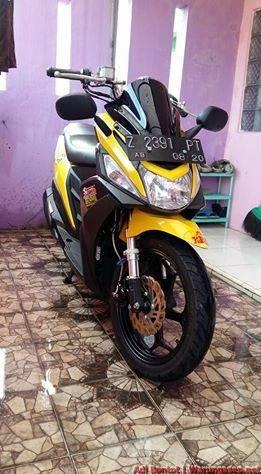 Modifikasi Yamaha Mio M3 125 Jadi Maxi Scooter Ala