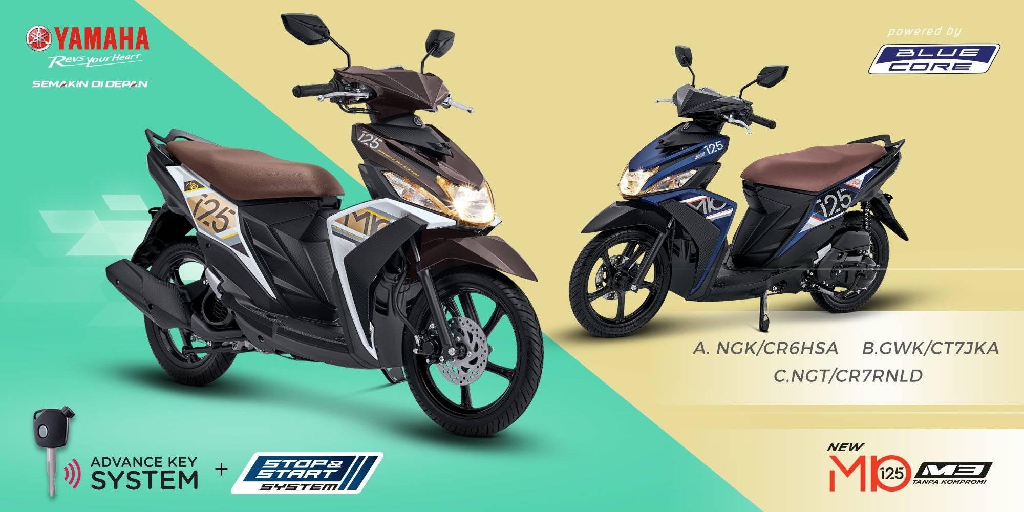 Foto Warna dan Spesifikasi Yamaha MIO M3 125 2017 Sudah AKS dan SSS… Harga Rp 15,6 Jutaan ...