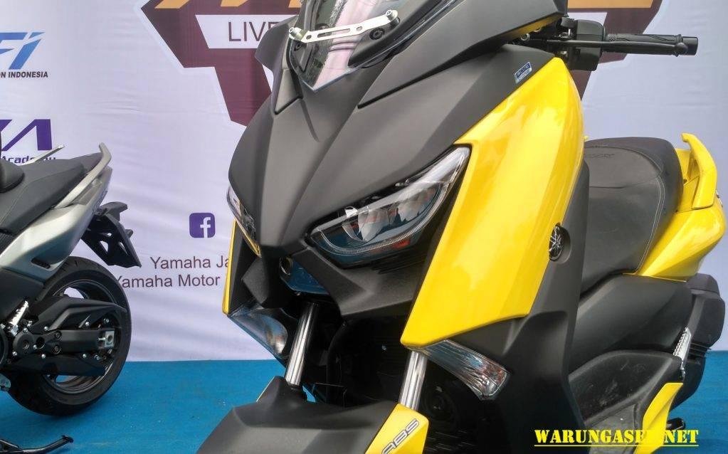 galeri foto  video yamaha  max  warna kuning