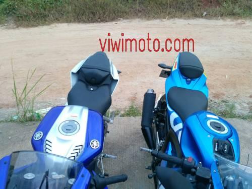 Perbandingan Gsx R150 Vs All New Yamaha R15 Jok Belakang