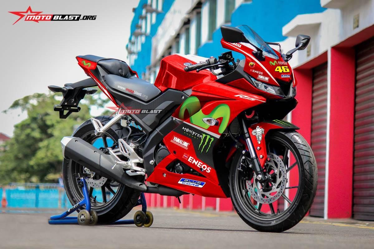 Konsep Modifikasi All New Yamaha R15 Red Movistar